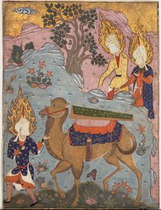 Funeral of Fatima, Folio from a Falnama Book of Divination) mid-1550s–early 1560s PERSIAN. Iran, Tabriz. MET