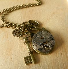 Image of Gorgeous Steampunk Inspired Charm Necklace Neo Queen Serenity, Necklaces, Bracelets, Sailor Moon, Steampunk, Charmed, Inspired, Earrings, Inspiration