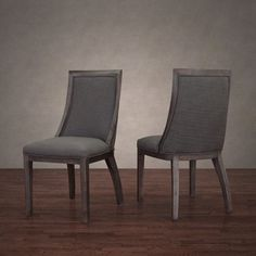 Park Avenue Smoke Linen Dining Chair (Set of 2) - Free Shipping Today - Overstock.com - 16670547 - Mobile