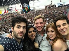 Matt, Emeraude, Dom, Kat, and Alberto- Netflix Brazil event