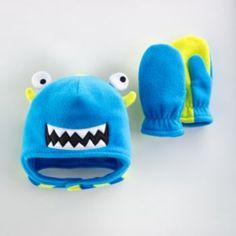 Jumping Beans Monster Fleece Hat & Mittens Set - Baby