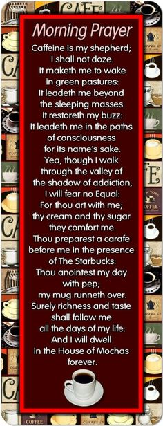 morning coffee prayer