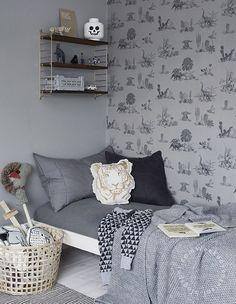 6 Habitaciones para niños en tonos grises