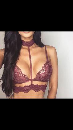 c00fba92c0 underwear bralette cute purple bra shirt burgundy straps lingerie top  brandy melville clothes forever 21 black dress shirt dress pants make-up  pink lace ...