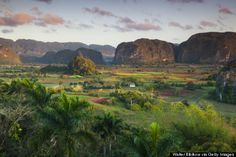 Viñales This leafy valley and its slow-paced rural town are among the places you can thank for those robust Cuban cigars. Horse-drawn wagons cruise near sugarcane plantations and banana trees. (Cuba)