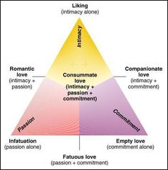 Psychologist, Robert Sternberg, developed theTriangular Theory of Love. This shows thetype of love you share with another person. The theory is based on three components your relationship can...