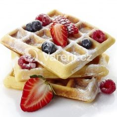 Belgium Waffles Fresh Berries Caster Sugar Stock Photo (Edit Now) 176306876 Belgium Waffles, French Crepes, Waffle Mix, Crepe Recipes, Brunch, Berries, Food And Drink, Gastronomia, Ideas
