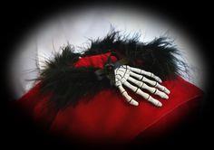 """Steampunk-Schmuck - geRIPpe """"Die Hand des Todes"""",Kropfband oder Kette - ein Designerstück von blacklight bei DaWanda"""