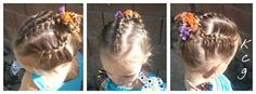 Three French Braids into a bun