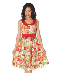c73136f9597 NEW Retrolicious Floral Dress - Size Large - Bust 36 31 42 - 50