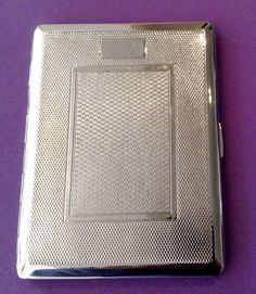 Cigarette Case Chrome Silver Tone Metal by by VintageUKSouth