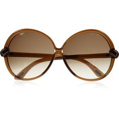 Tom Ford Round-frame acetate sunglasses ($165) ❤ liked on Polyvore featuring accessories, eyewear, sunglasses, glasses, óculos, occhiali, round frame sunglasses, gradient lens sunglasses, retro glasses et round sunglasses