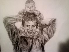 My dad and my little brother. I drew this about five years ago!