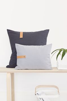 How to add leather detail to your pillows