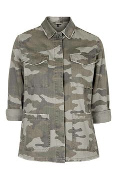 Authentic Camo Shacket - Topshop