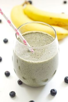 Green Blueberry Smoothie   Recipe Runner   A healthy, sweet, filling smoothie packed with antioxidants. The best way to start your day! // Card Made