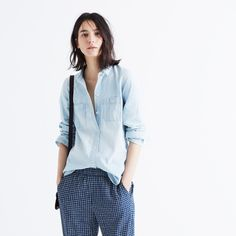 Slim Ex-Boyfriend Shirt in Chambray :   | Madewell