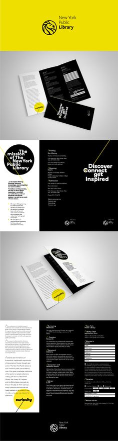 """Brief / Concept  Create a trifold brochure for """"The New York Public Library"""".   The mission of The New York Public Library is to inspire lifelong learning, advance knowledge, and strengthen our communities. To deliver on this promise, we rely on three great resources—our staff, our collections, and our physical and virtual spaces—as well as on a set of core values. Packaging Design, Branding Design, Core Values, New York Public Library, Physics, Web Design, Knowledge, Inspire, Concept"""
