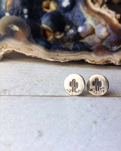 Cactus Earring Posts in Sterling Silver Fall by SproutsAndRoots