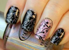 Pinked Polish: Holy Holo Stamping #nail #nails #nailart