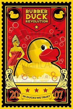 Rubber Duck Revolution poster. So cute!
