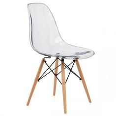 Crystal Polycarbonate Modern Dining Chair Transparent span class