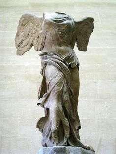Winged Victory (Nike) of Samothrace, Greek statue (marble), 2nd century BC (Musée du Louvre, Paris).
