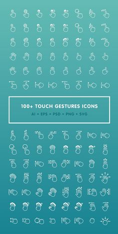 Über 100 kostenlose Touch Gestures Icons