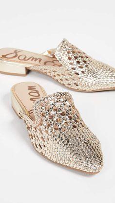 Great for Sam Edelman Clara Mules Womens Fashion Shoes from top store Mules Shoes, Shoes Heels, Wedge Heels, Giuseppe Zanotti Heels, Gold Flats, Fashion Heels, Beautiful Shoes, Shoe Brands, Designer Shoes