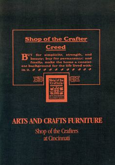 Shop of the Crafters Arts & Crafts Furniture Catalog Reprint