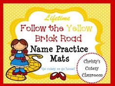 A literacy center MUST!!! A child's name is one of the most important first…