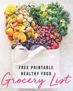 Fit Girl's Grocery List – Healthy Eating FREE Printable Grocery List