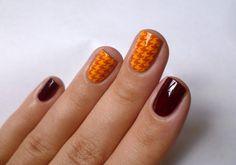 Moyra stamping plate 02 - Fabric Texture fall nail art stamping Stamping Nail Art, Stamping Plates, Fall Nail Art, My Nails, Nailart, Stamps, Autumn, Mood, Texture