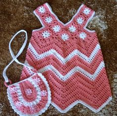 Crochet Guide: Pink Summer Dress & Small Purse