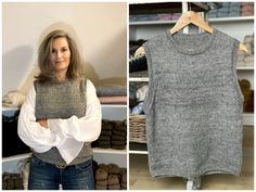 22 m på pind = 10 cm Sweater Knitting Patterns, Free Knitting, Vest Pattern, Vest Outfits, Fashion Books, Knit Crochet, How To Wear, Clothes, Jumpers