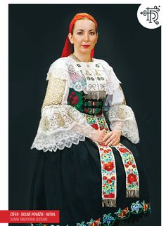 Cífer Považie, Slovakia Contemporary Decorative Art, Costumes Around The World, Folk Clothing, Folk Embroidery, Folk Costume, World Cultures, Traditional Dresses, Sari, Clothes
