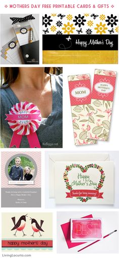 Mothers Day Free Printable Cards & DIY Gifts! via livinglocurto.com