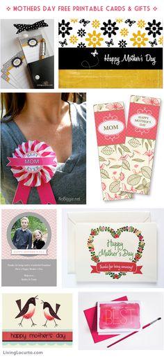 Mothers Day Free Printable Cards & DIY Gifts! via livinglocurto.com