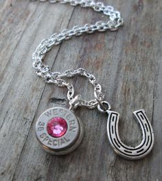 Bullet Anklet With Horse shoe Charm by Sarahsjewelrydesigns, $22.00