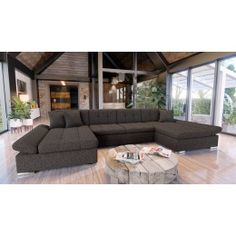 Luxusná sedacia súprava Agapi, hnedá-www.nabytok-helcel.sk Sectional Sleeper Sofa, Sofa Bed, Couch, Living Spaces, Living Room, Storage Compartments, Outdoor Furniture, Outdoor Decor, Home And Garden