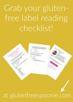 How do you even know if a product is gluten-free? Well, have you gotten your gluten-free label reading checklist yet? The checklist walks you through every step! Get your copy at glutenfreespoonie.com