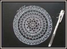 Hi Friends..! So This video is all about how you can create a Mandala on black paper. This was my fist ever experience of using a white pen. SO excuse me if ...