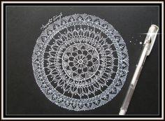 Easy Mandala design on black paper.!!