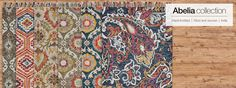 Abelia Collection   Feizy Rugs - Just in from India, the Feizy Abelia Collection is the perfect marriage of deep natural tones and pops of warm color. Energetic patterns dance across tufted wool, evoking sun-drenched days and moonlit Moroccan nights. With designs perfect for both traditional and contemporary styles, the Abelia Collection grounds living rooms and casual conversation areas in charm and romance.