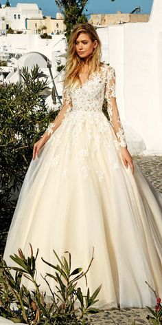 Eva Lendel 2017 Santorini Wedding Dresses Collection ❤ See more: http://www.weddingforward.com/eva-lendel-2017-wedding-dresses-collection/ #wedding #dresses #evalendel