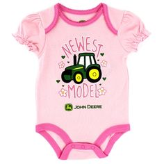 ideas baby girl outfits country john deere for 2019 Storing Baby Clothes, Cool Baby Clothes, Babies Clothes, Toddler Fashion, Kids Fashion, New Baby Girl Names, John Deere Baby, Farm Clothes, Baby Shirts
