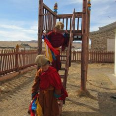 Back in the day hanging with little #Tibetan monks in Karakorum #mongolia . (at Karakorum Mongolia) ShamelessTraveler.com