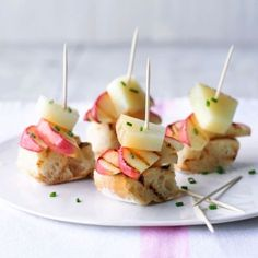 Apple and manchego cheese tapas. For the full recipe, click the picture or visit RedOnline.co.uk