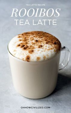 Is this the best rooibos latte? Rooibos is also an herbal tea so no caffeine in this drink either. I kicked it up a notch with vanilla extract, honey, and a sprinkling of cinnamon. Best Matcha Tea, Matcha Green Tea, Matcha Drink, Best Herbal Tea, Best Tea, Herbal Teas, Iced Tea Recipes, Coffee Recipes, Drink Recipes