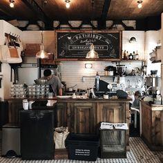 Coffee cafe interior, bakery interior, cafe interior design, cafe design, r Industrial Coffee Shop, Rustic Coffee Shop, Industrial Cafe, Coffee Shop Design, Coffee Cafe Interior, Bakery Interior, Restaurant Interior Design, Rustic Bakery, Rustic Cafe